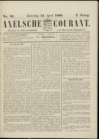 Axelsche Courant 1886-04-24