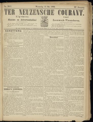 Ter Neuzensche Courant. Algemeen Nieuws- en Advertentieblad voor Zeeuwsch-Vlaanderen / Neuzensche Courant ... (idem) / (Algemeen) nieuws en advertentieblad voor Zeeuwsch-Vlaanderen 1892-05-11