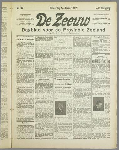 De Zeeuw. Christelijk-historisch nieuwsblad voor Zeeland 1929-01-24