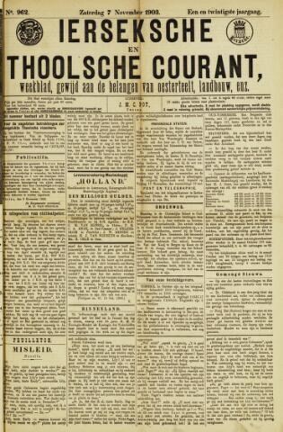 Ierseksche en Thoolsche Courant 1903-11-07