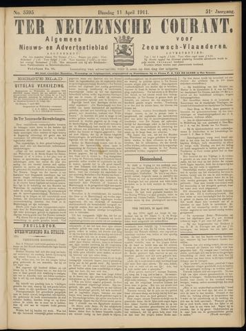 Ter Neuzensche Courant. Algemeen Nieuws- en Advertentieblad voor Zeeuwsch-Vlaanderen / Neuzensche Courant ... (idem) / (Algemeen) nieuws en advertentieblad voor Zeeuwsch-Vlaanderen 1911-04-11