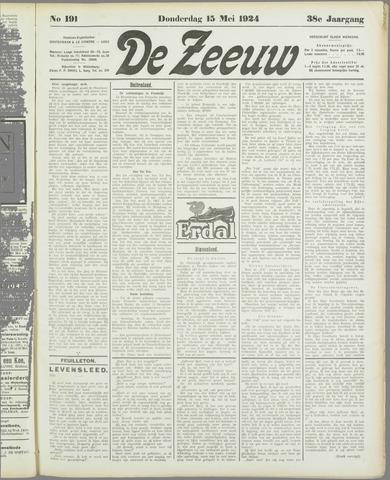 De Zeeuw. Christelijk-historisch nieuwsblad voor Zeeland 1924-05-15