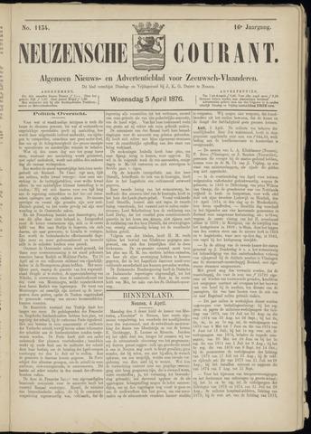 Ter Neuzensche Courant. Algemeen Nieuws- en Advertentieblad voor Zeeuwsch-Vlaanderen / Neuzensche Courant ... (idem) / (Algemeen) nieuws en advertentieblad voor Zeeuwsch-Vlaanderen 1876-04-05