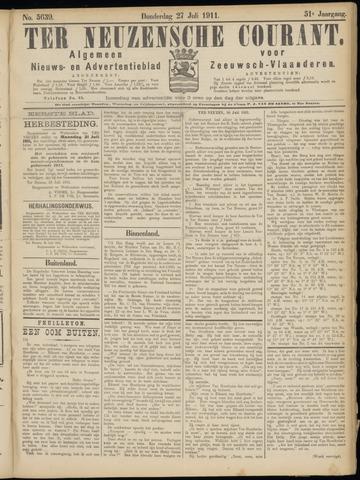 Ter Neuzensche Courant. Algemeen Nieuws- en Advertentieblad voor Zeeuwsch-Vlaanderen / Neuzensche Courant ... (idem) / (Algemeen) nieuws en advertentieblad voor Zeeuwsch-Vlaanderen 1911-07-27