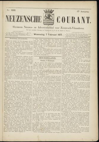 Ter Neuzensche Courant. Algemeen Nieuws- en Advertentieblad voor Zeeuwsch-Vlaanderen / Neuzensche Courant ... (idem) / (Algemeen) nieuws en advertentieblad voor Zeeuwsch-Vlaanderen 1877-02-07
