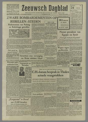 Zeeuwsch Dagblad 1958-02-24