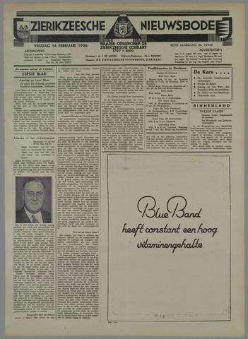 Zierikzeesche Nieuwsbode 1936-02-14