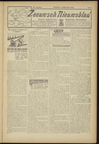 Zeeuwsch Nieuwsblad/Wegeling's Nieuwsblad 1935-02-08
