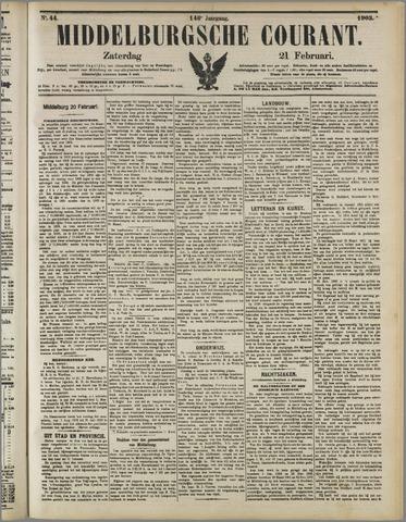 Middelburgsche Courant 1903-02-21