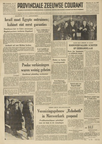 Provinciale Zeeuwse Courant 1957-01-21