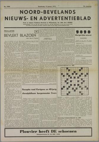 Noord-Bevelands Nieuws- en advertentieblad 1972-01-13
