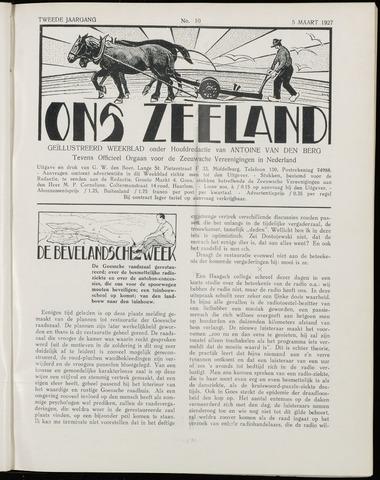 Ons Zeeland / Zeeuwsche editie 1927-03-05