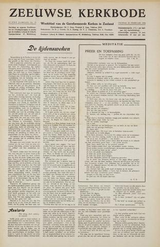 Zeeuwsche kerkbode, weekblad gewijd aan de belangen der gereformeerde kerken/ Zeeuwsch kerkblad 1956-02-24