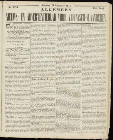 Ter Neuzensche Courant. Algemeen Nieuws- en Advertentieblad voor Zeeuwsch-Vlaanderen / Neuzensche Courant ... (idem) / (Algemeen) nieuws en advertentieblad voor Zeeuwsch-Vlaanderen 1875-09-25