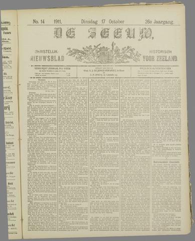 De Zeeuw. Christelijk-historisch nieuwsblad voor Zeeland 1911-10-17