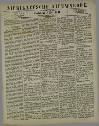 Zierikzeesche Nieuwsbode 1891-05-07