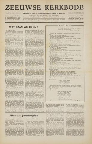 Zeeuwsche kerkbode, weekblad gewijd aan de belangen der gereformeerde kerken/ Zeeuwsch kerkblad 1956-10-12