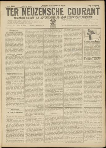 Ter Neuzensche Courant. Algemeen Nieuws- en Advertentieblad voor Zeeuwsch-Vlaanderen / Neuzensche Courant ... (idem) / (Algemeen) nieuws en advertentieblad voor Zeeuwsch-Vlaanderen 1938-02-11