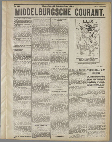 Middelburgsche Courant 1921-09-26