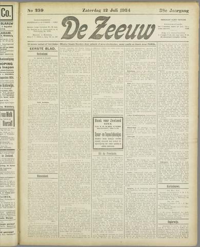 De Zeeuw. Christelijk-historisch nieuwsblad voor Zeeland 1924-07-12