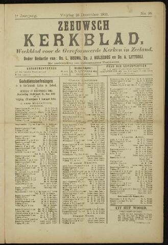 Zeeuwsche kerkbode, weekblad gewijd aan de belangen der gereformeerde kerken/ Zeeuwsch kerkblad 1903-12-25