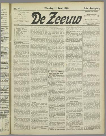 De Zeeuw. Christelijk-historisch nieuwsblad voor Zeeland 1918-06-11