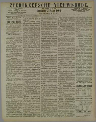 Zierikzeesche Nieuwsbode 1893-03-02