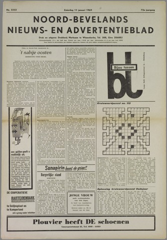 Noord-Bevelands Nieuws- en advertentieblad 1969-01-11
