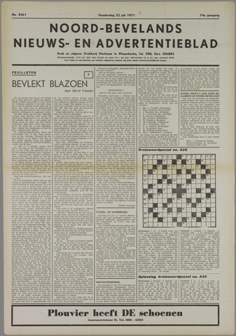 Noord-Bevelands Nieuws- en advertentieblad 1971-07-22