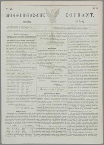 Middelburgsche Courant 1854-06-20