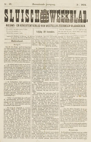 Sluisch Weekblad. Nieuws- en advertentieblad voor Westelijk Zeeuwsch-Vlaanderen 1876-12-29