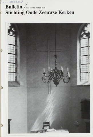 Bulletin Stichting Oude Zeeuwse kerken 1986-09-01