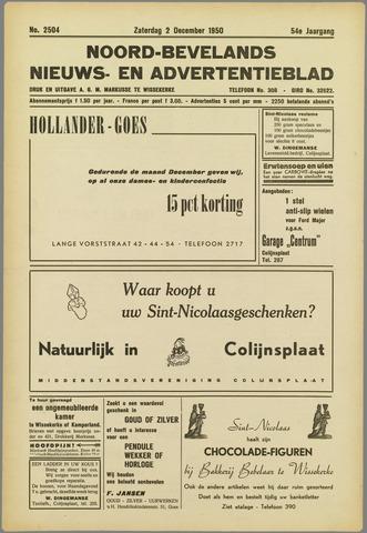 Noord-Bevelands Nieuws- en advertentieblad 1950-12-02