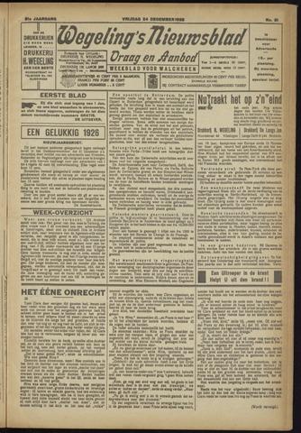 Zeeuwsch Nieuwsblad/Wegeling's Nieuwsblad 1925-12-24