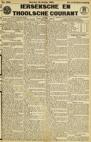 Ierseksche en Thoolsche Courant 1920-10-23