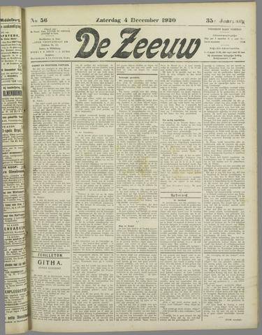 De Zeeuw. Christelijk-historisch nieuwsblad voor Zeeland 1920-12-04