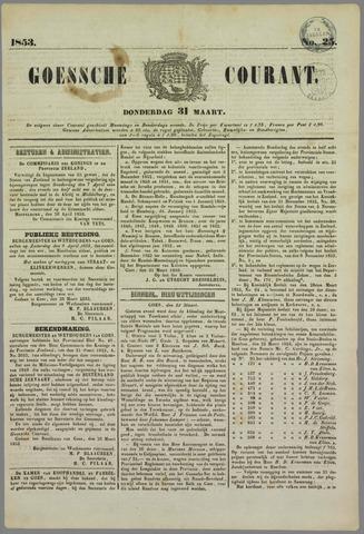 Goessche Courant 1853-03-31