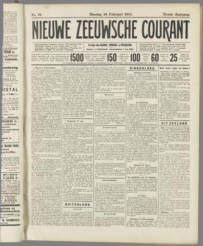 Nieuwe Zeeuwsche Courant 1914-02-10