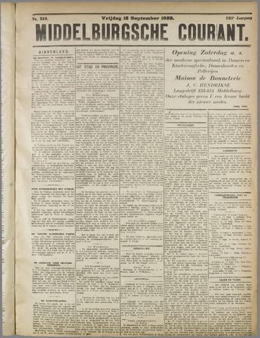 Middelburgsche Courant 1922-09-15