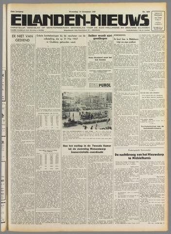 Eilanden-nieuws. Christelijk streekblad op gereformeerde grondslag 1949-12-14
