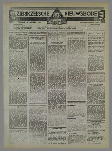 Zierikzeesche Nieuwsbode 1942-01-23