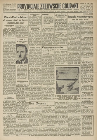 Provinciale Zeeuwse Courant 1947-02-07