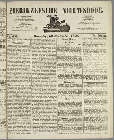 Zierikzeesche Nieuwsbode 1850-09-30