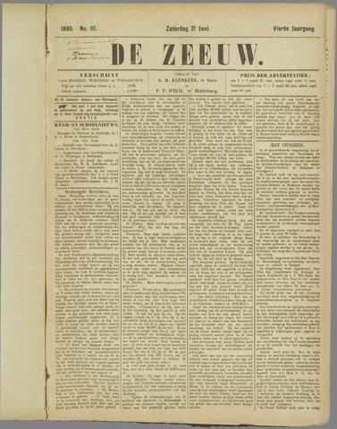 De Zeeuw. Christelijk-historisch nieuwsblad voor Zeeland 1890-06-21