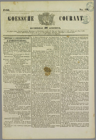 Goessche Courant 1852-08-26