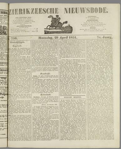 Zierikzeesche Nieuwsbode 1851-04-28