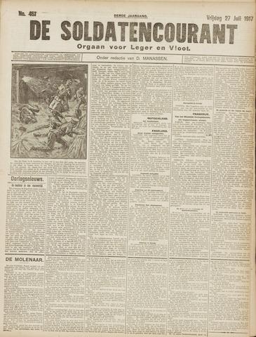De Soldatencourant. Orgaan voor Leger en Vloot 1917-07-27