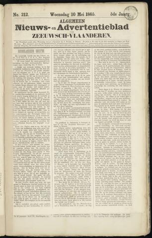 Ter Neuzensche Courant. Algemeen Nieuws- en Advertentieblad voor Zeeuwsch-Vlaanderen / Neuzensche Courant ... (idem) / (Algemeen) nieuws en advertentieblad voor Zeeuwsch-Vlaanderen 1865-05-10