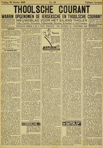 Ierseksche en Thoolsche Courant 1933-10-20