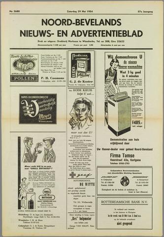 Noord-Bevelands Nieuws- en advertentieblad 1954-05-29